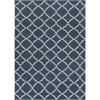 Darby Hand-Woven Navy Area Rug Rug Size: Rectangle 5 x 8