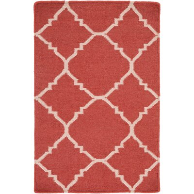 Darby Hand-Woven Red Area Rug Rug Size: Rectangle 9 x 13