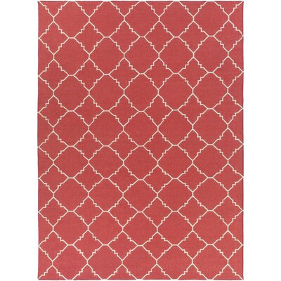Darby Hand-Woven Red Area Rug Rug Size: Rectangle 8 x 11