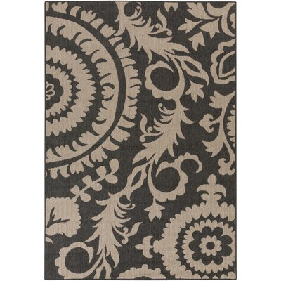 Hattie Pewter & Natural Indoor/Outdoor Rug Rug Size: 53 x 76