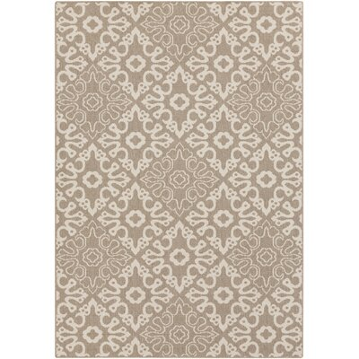 Lydia Natural Indoor/Outdoor Rug Rug Size: 53 x 76