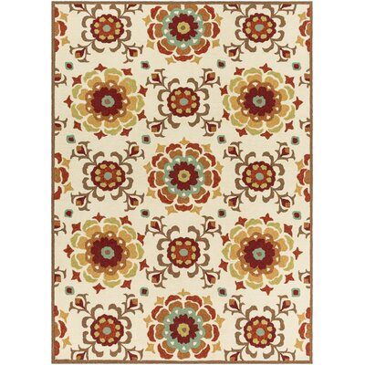 Natalia Brick Indoor/Outdoor Rug Rug Size: 2 x 3
