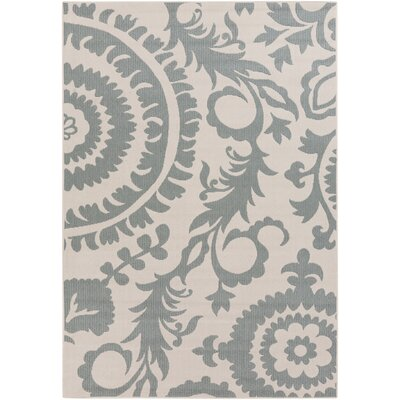 Hattie Parchment & Sage Indoor/Outdoor Rug Rug Size: Rectangle 53 x 76