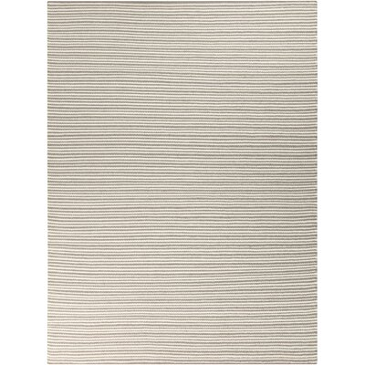 Kathryn Hand-Woven Gray Area Rug Rug Size: Rectangle 8 x 11