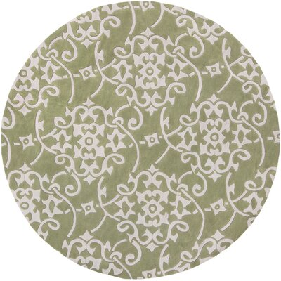 Shauna Hand-Woven Leaf Area Rug Rug Size: Round 8