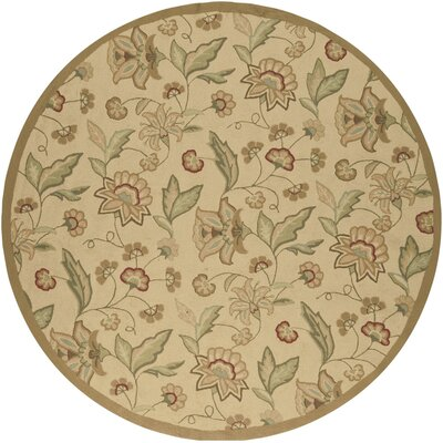 Eleanor Hand-Woven Area Rug Rug Size: Round 8