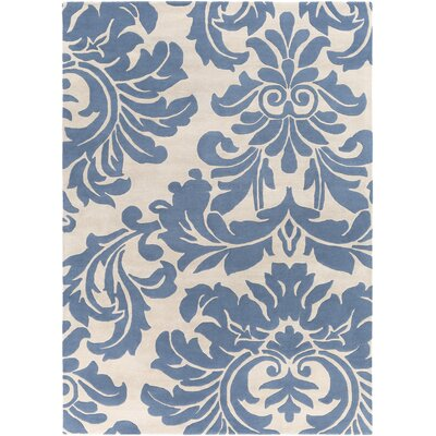 Diana Hand-Woven Denim/Cream Area Rug Rug Size: Rectangle 8 x 11