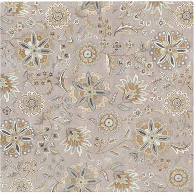 Jasmine Gray Tufted Wool Area Rug Rug Size: Square 8