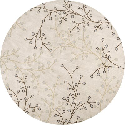 Layla Natural Rug Rug Size: Round 8