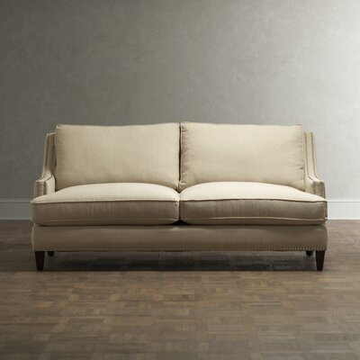 Larson Sofa with Toss Pillows Upholstery: Linen