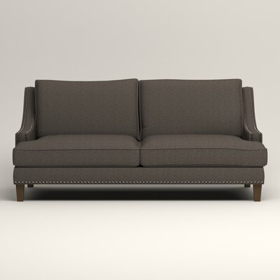 Larson Sofa with Toss Pillows Upholstery: Bailey Charcoal Blended Linen