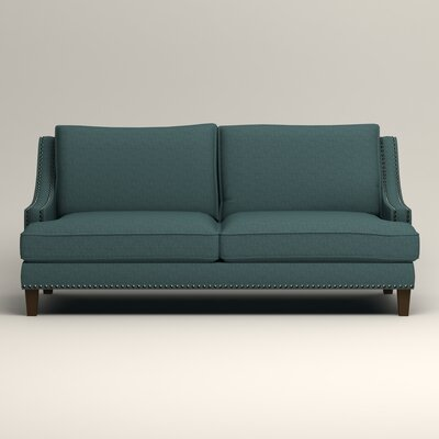 Larson Sofa with Toss Pillows Upholstery: Bailey Aegean Blended Linen