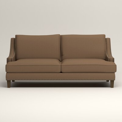 Larson Sofa with Toss Pillows Upholstery: Jackson Bark Microsuede