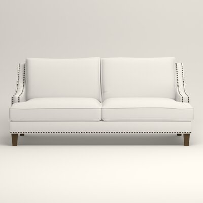 Larson Sofa with Toss Pillows Upholstery: Truman Cloud White Twill
