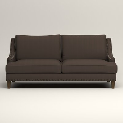 Larson Sofa with Toss Pillows Upholstery: Microsuede Charcoal