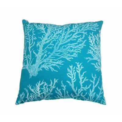 Sea Coral Throw Pillow Color: Turquoise