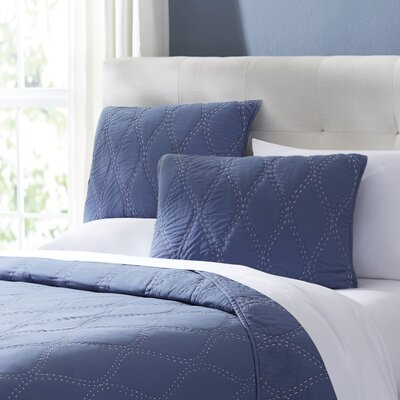 Charlotte Quilt Size: King, Color: Navy