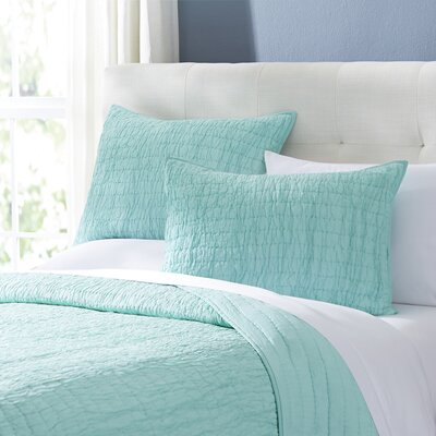 Rochelle Quilt Set Size: King, Color: Light Blue