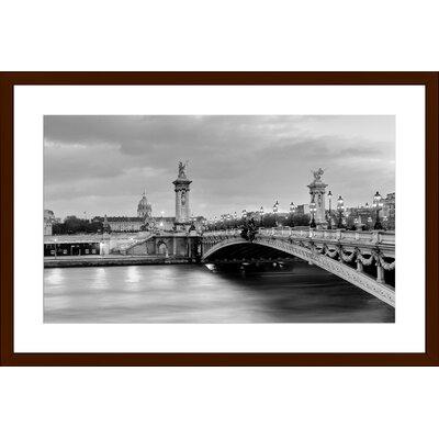 Paris Bridge Alexandre, Framed Paper Print Size: 13