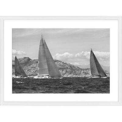 Regatta, Framed Paper Print Frame Color: White, Size: 21