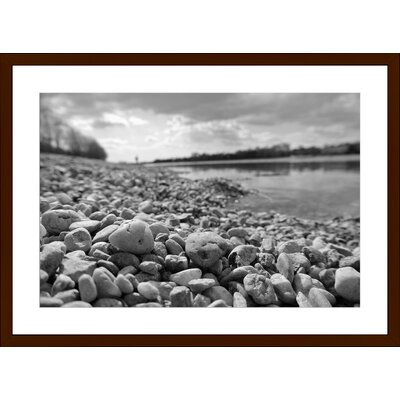 White Pebbles, Framed Paper Print Size: Large, Frame Color: Espresso