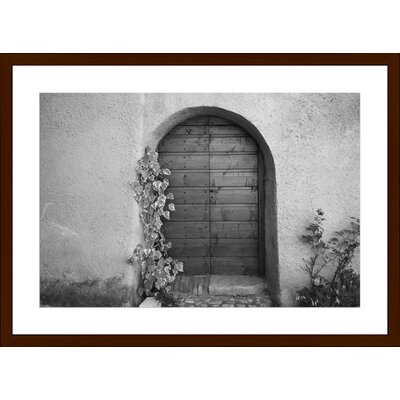 Porta di Legno, Framed Paper Print Size: 14