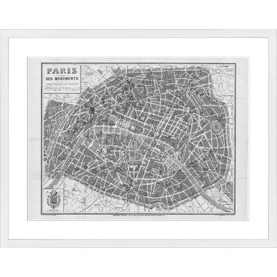 Paris 1926, Framed Paper Print Frame Color: White, Size: 22