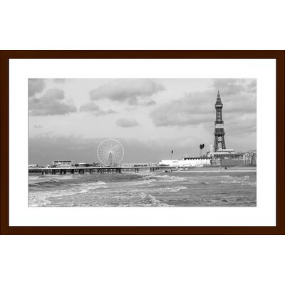 Blackpool Tower, Framed Paper Print Size: Large, Frame Color: Espresso