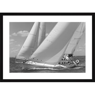 Racing Yachts, Framed Paper Print Size: 14
