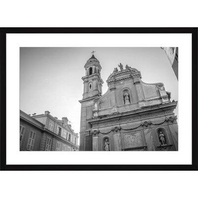 Kathedrale Saint-Michel in Menton, Framed Paper Print Frame Color: Black, Size: Medium