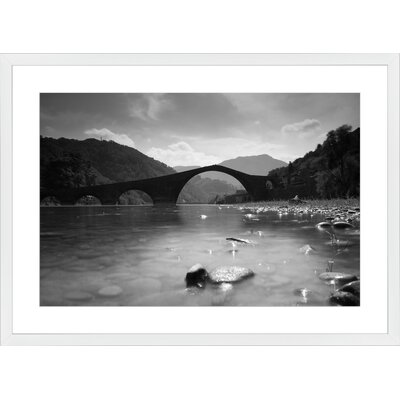 Ponte del Diavolo, Framed Paper Print Frame Color: White, Size: 21