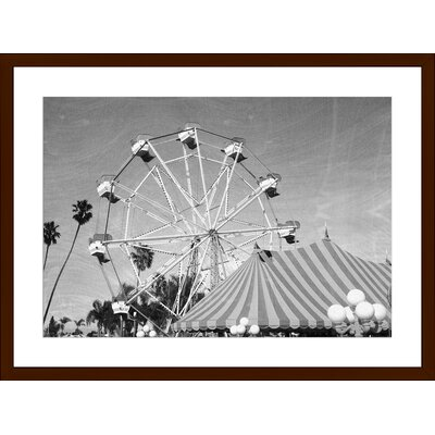 Vintage Photo of Ferris Wheel, Framed Paper Print Size: Large, Frame Color: Espresso