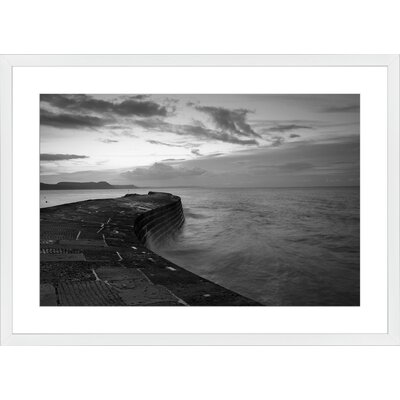 The Cobb at Lyme Regis, Framed Paper Print Frame Color: White, Size: Large