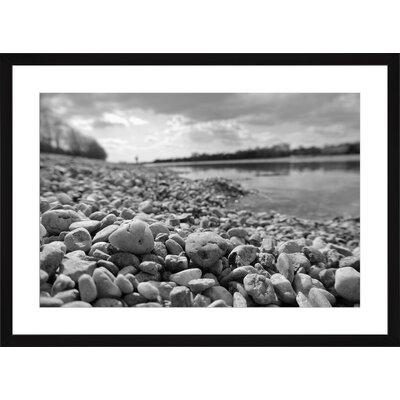 White Pebbles, Framed Paper Print Size: Large, Frame Color: Black