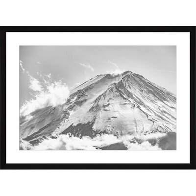 Top Fuji Mountain, Framed Paper Print Frame Color: Black, Size: Medium