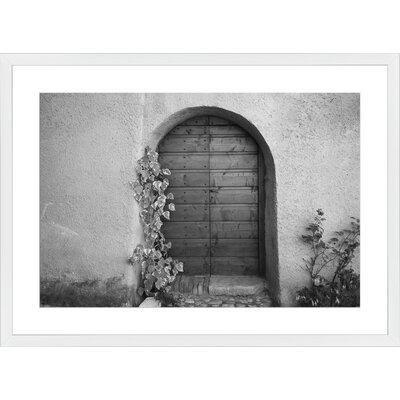 Porta di Legno, Framed Paper Print Frame Color: White, Size: 21