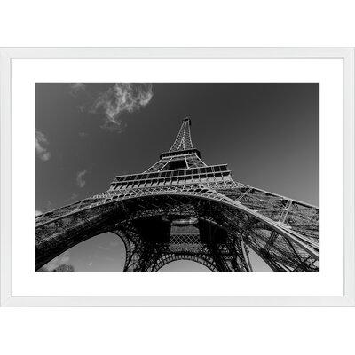Eiffel Tower, Framed Paper Print Frame Color: White, Size: 21