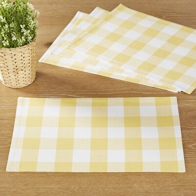 Maurice Placemats (Set of 6) Color: Yellow
