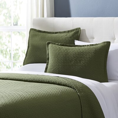 Marielle Quilt Set Size: King, Color: Fern