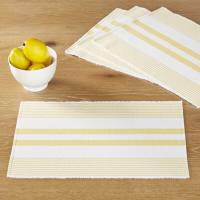 Mariana Placemats (Set of 6) Color: Yellow