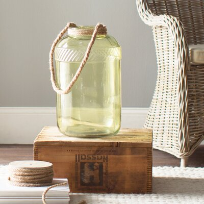 Riva Handled Glass Jar Color: Sage