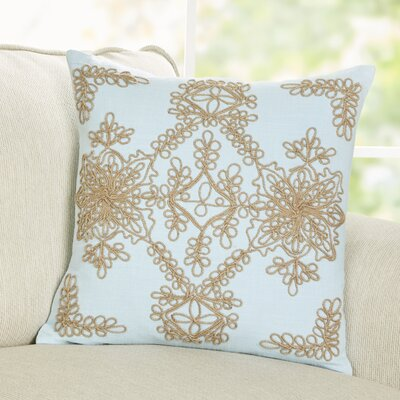 Mia Embroidered Pillow Cover Color: Stratosphere