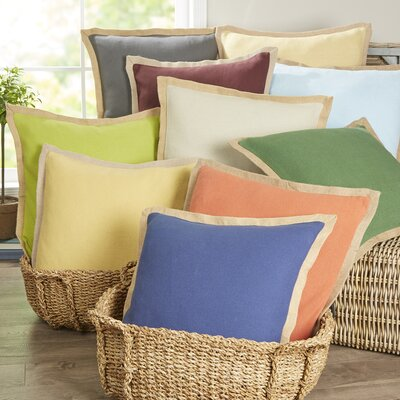 Birch Lane™ Shayna Jute Trim Pillow Cover