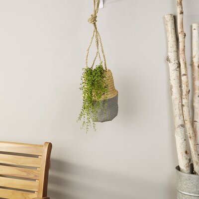 Dipped Woven Hanging Planter