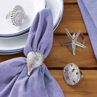 Silver Seashell Napking Rings