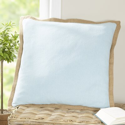 Shayna Jute Trim Pillow Cover Color: Stratosphere