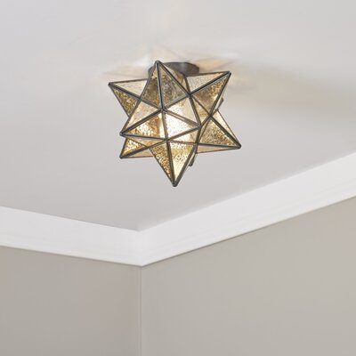 Charlton Flush Mount Finish: Antique Mercury / Bronze