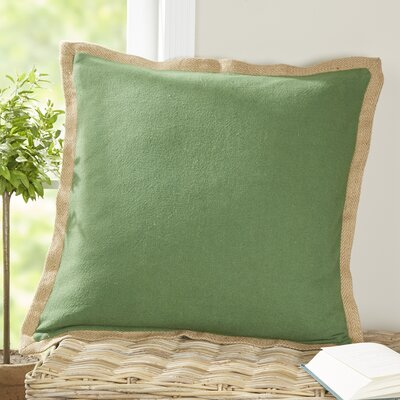 Shayna Jute Trim Pillow Cover Color: Cactus