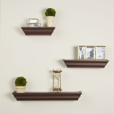 3 Piece Madison Wall Shelf Set Finish: Espresso
