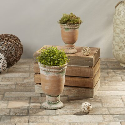 Millett 2-Piece Clay Pot Planter Set